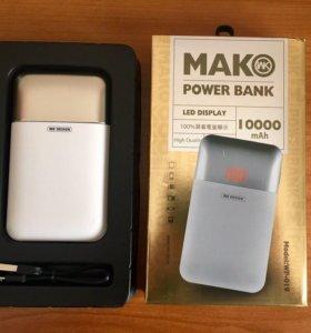 Внешний аккумулятор WK Mak WP-019 10000 mAh белый.