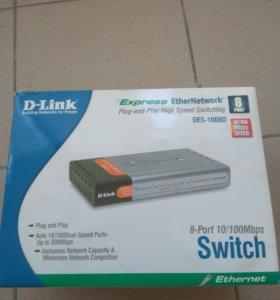 Маршрутизатор D-link DES-1008D, 8 портов, 100mb/s