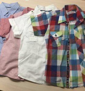 Рубашки для мальчика(рост 110-116)
