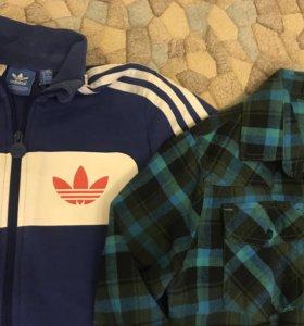 Толстовка и рубашка