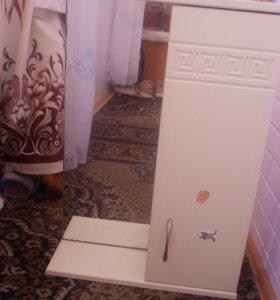 шкаф на стену с зеркалом