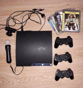 PS 3+muvi +7игр +HDmi+ бунос