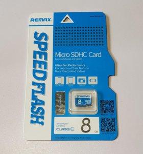 Карта памяти Remax micro SD (микро сд) 8 гб