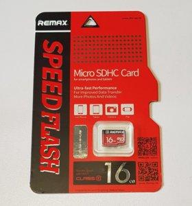 Карта памяти Remax micro SD (микро сд) 16 гб