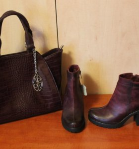 Полусапожки, сумка и шарфик, всё новое