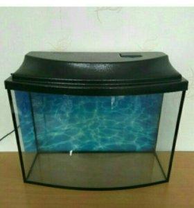 40л с доставкой новый панорамный аквариум