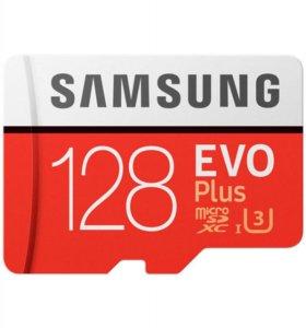 MicroSDXC 128 Gb Samsung EVO+ 100 Мб/с