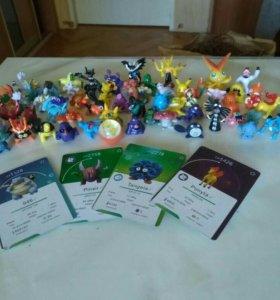 Покемоны Фигурки карточки попрыгун