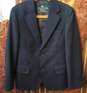 Пиджак для школьников т.синий