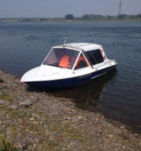 Томь 525 -водомёт двигатель VOLVo PENTA с прицепом