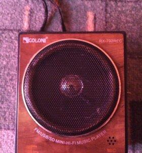 Рупор радио usb sd player
