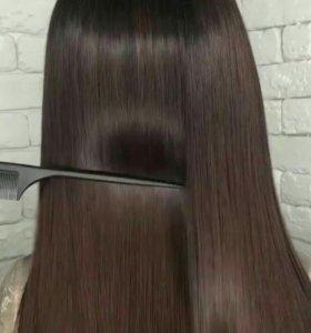 Кератиновое выпрямление, нанопластика, боток волос