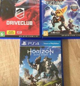 Игры для PS4 (Horizon, Ratchet&Clank, Driverclub)