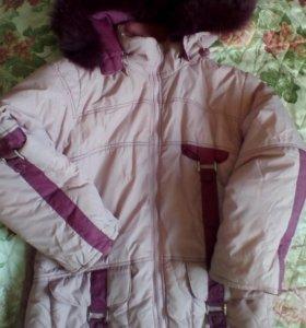 Куртка сост.хор.+брюки сост.отл.на девочку(зима)