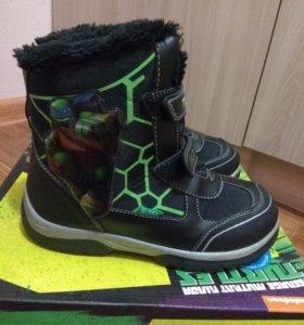 Ботинки зимние Черепашки Ниндзя, новые, р33 (22см)