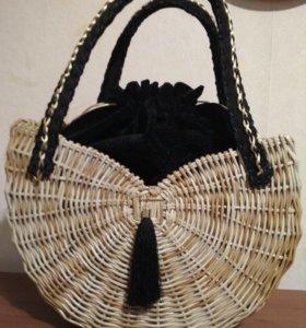 Сумочка плетеная