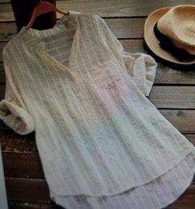 Рубашка полосатая новая
