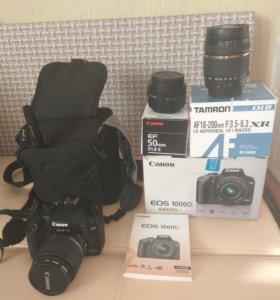 Фотоаппарат CANON EOS 1000 D c тремя обьективами