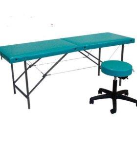 Массажный стол + стул мастера