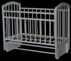 Детская белая кроватка+матрас+комод