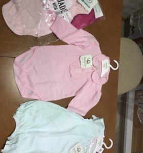 Одежда на девочек от рождения до года