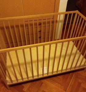 Кроватка Икея с матрасом