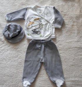 Костюм на новорожденного,3мес.,р.62см.