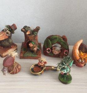 Глиняные игрушки по 200₽ и 100₽