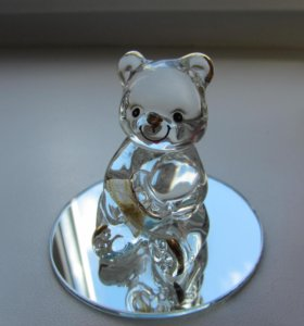 Медвежонок фигурка из стекла