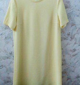 Платье , лимонно-желтое,размер L.