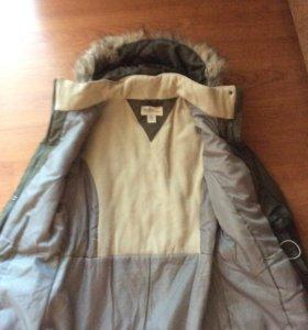 Новая куртка- парка на девочку, размер 40-42,