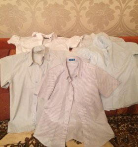 Рубашки для школьника 5 штук