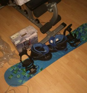 Сноуборд + крепления + ботинки