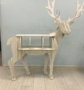 Декоративный олень-полка