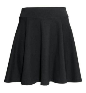 Черная юбка-солнце М