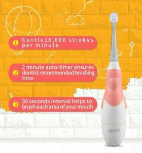 Новая детская электрическая зубная щетка