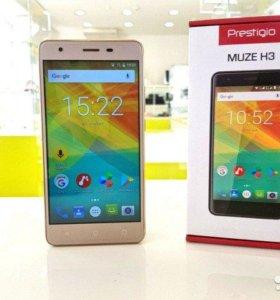 Телефон Prestigio H3, силиконовый чехол в подарок.