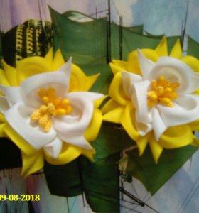 Резинки - цветочки ручной работы