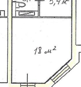 Квартира, студия, 26.8 м²