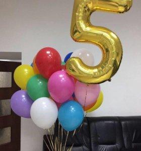 Продам шарик-цифра 5