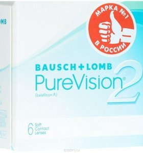 Bausch + Lomb контактные линзы Pure Vision 2 -1.00