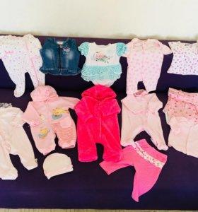 Пакет вещей на девочку от 5 до 12 месяцев