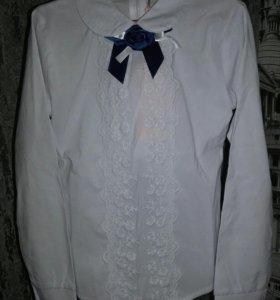 Новая школьная блузка размеры от 6-10 лет.