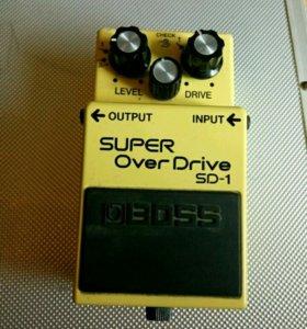 Редкий Overdrive Boss SD-1 (мод ZMG). Овердрайв