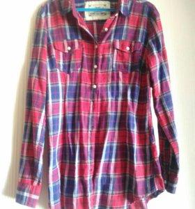 Фланелевая клетчатая рубашка colins