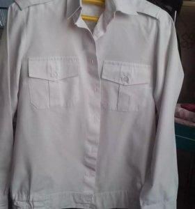 Форменная рубашка белая под погоны