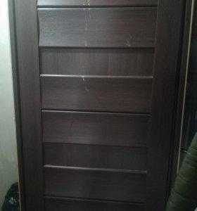 Дверь из шпона(коробка в комплекте)