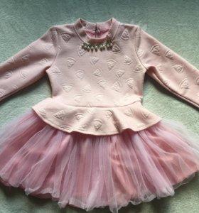 Розовое платье для девочки🧚🏻♀️