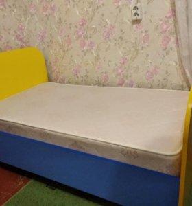 Продам кровать и новый матрас