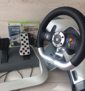 Руль, педали Microsoft Wireless Racing Wheel Xbox